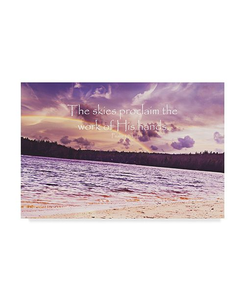 """Trademark Global Vintage Skies 'The Work of his Hands' Canvas Art - 24"""" x 16"""" x 2"""""""