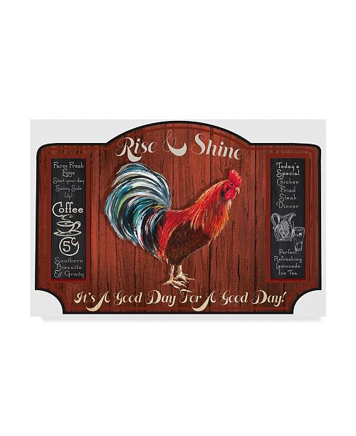 """Trademark Global Sher Sester 'A Good Day Sign Rust Wood' Canvas Art - 47"""" x 30"""" x 2"""""""