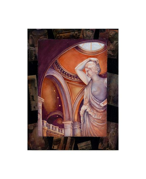 """Trademark Global Sher Sester 'Touring The Met' Canvas Art - 32"""" x 24"""" x 2"""""""