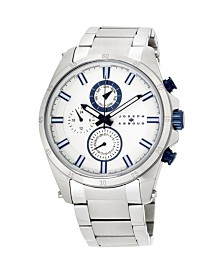 Joseph Abboud Men's Analog Silver Stainless Steel Bracelet Watch 28mm