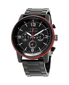 Men's Analog Black Stainless Steel Bracelet Watch 28mm