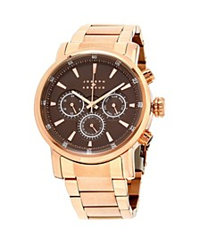 Joseph Abboud Men's Analog Rose Gold Stainless Steel Bracelet Watch 28mm