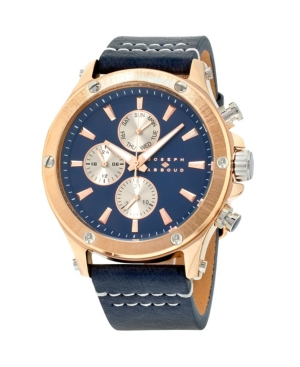 Image of Joseph Abboud Men's Analog Rose Gold Case Leather Watch
