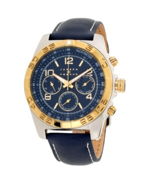 Image of Joseph Abboud Men's Analog Blue Leather Strap Watch 9.75mm