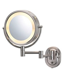 "The HL65N 8"" Lighted Wall Mount Makeup Mirror"