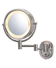 "The Jerdon HL65N 8"" Lighted Wall Mount Makeup Mirror"