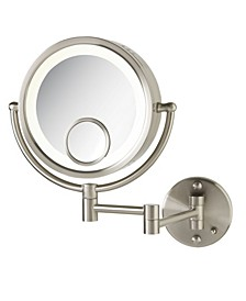 "The HL8515N 8.5"" Lighted Wall Mount Makeup Mirror"