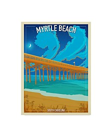 """Old Red Truck 'Myrtle Beach' Canvas Art - 24"""" x 18"""" x 2"""""""