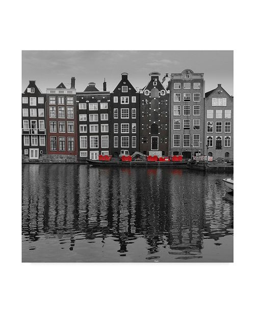 "Trademark Global Moises Levy 'Amsterdam Canals' Canvas Art - 14"" x 14"" x 2"""