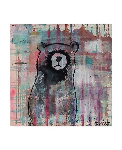 "Trademark Global Zwart 'Bear Meditates' Canvas Art - 18"" x 18"" x 2"""