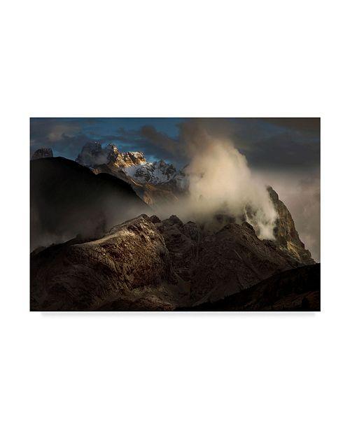 "Trademark Global Nicolas Schumacher 'Magic Light Mountain' Canvas Art - 19"" x 2"" x 12"""