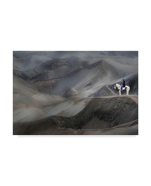 "Trademark Global Mieke Suharini 'Relax And Smoking' Canvas Art - 24"" x 2"" x 16"""