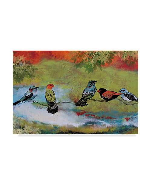 "Trademark Global Jean Plout 'Birds On A Branch' Canvas Art - 24"" x 16"" x 2"""