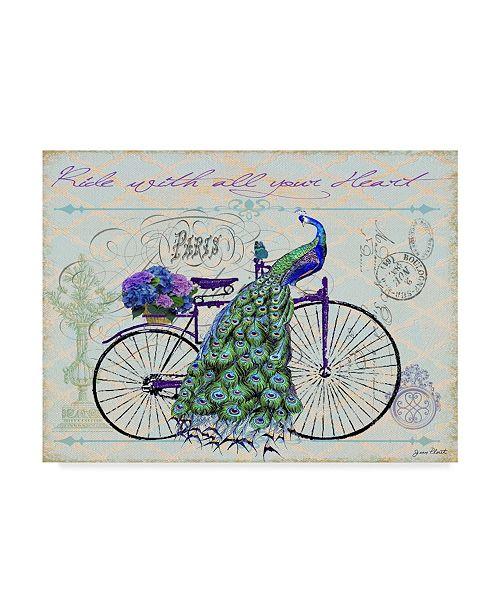 "Trademark Global Jean Plout 'Blue Bike' Canvas Art - 24"" x 18"" x 2"""