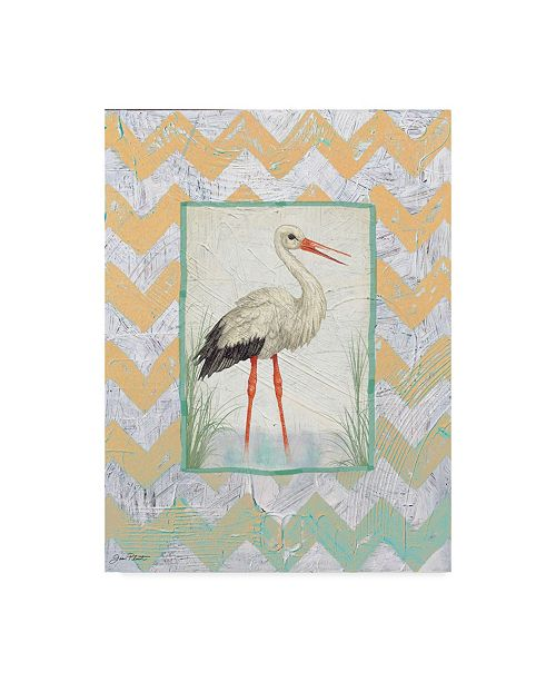 "Trademark Global Jean Plout 'Crane' Canvas Art - 24"" x 18"" x 2"""