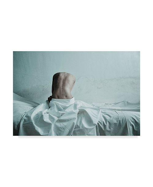 "Trademark Global Mojgan 'Her Back' Canvas Art - 19"" x 2"" x 12"""