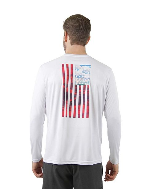 Mountain And Isles Sun Protection Long Sleeve Flag T-Shirt