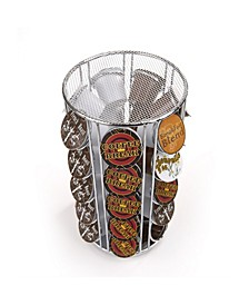 35 Capacity Rotating Metal K-Cup Carousel Pod Holder