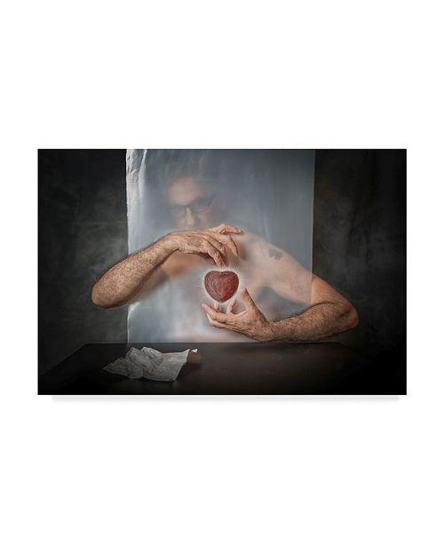 "Trademark Global Vito Guarino 'Abandoned Heart' Canvas Art - 19"" x 2"" x 12"""