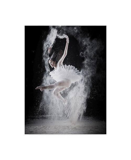 "Trademark Global Yudhistira Yogasara 'Fly Dancing' Canvas Art - 24"" x 2"" x 32"""