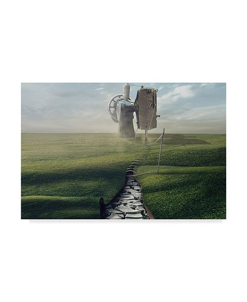 """Trademark Global Sulaiman Almawash 'Cultivate The Ground' Canvas Art - 24"""" x 2"""" x 16"""""""