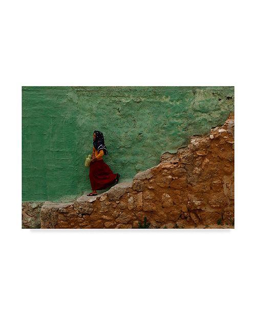 "Trademark Global Murat Yilmaz 'Stair' Canvas Art - 19"" x 2"" x 12"""