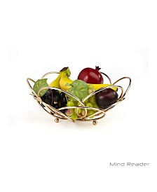 Mind Reader Modern Rose Gold Fruit and Vegetable Bowl