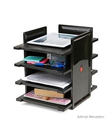 4 Tier Desktop Document and Folder Tray Organizer