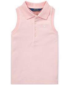 Polo Ralph Lauren Toddler Girls Sleeveless Mesh Polo Shirt