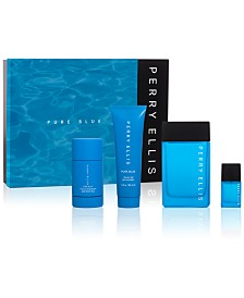 Perry Ellis Men's 4-Pc. Pure Blue Gift Set