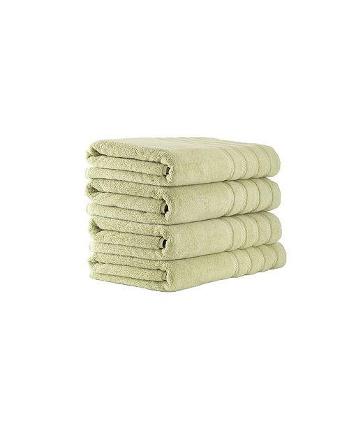 Makroteks Classic Turkish Towels Antalya 4 Piece Luxury Turkish Cotton Bath Towel Set