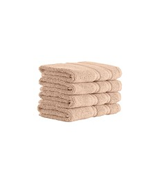 Classic Turkish Towels Antalya 4 Piece Luxury Turkish Cotton Washcloth Towel Set