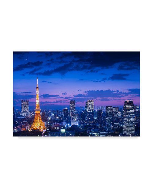 "Trademark Global Takao Kataoka 'Tokyo Night View' Canvas Art - 24"" x 2"" x 16"""