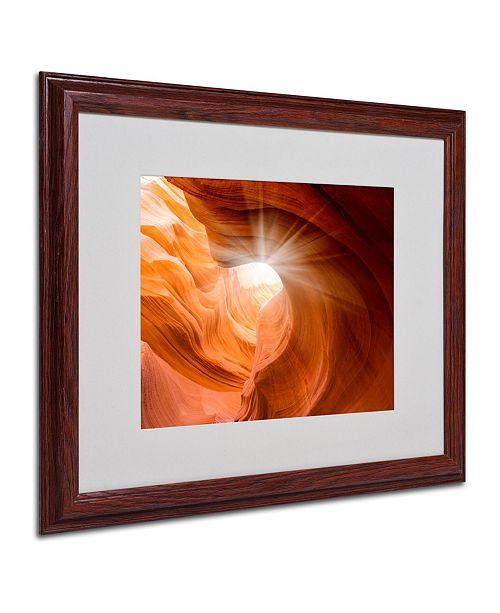"Trademark Global Moises Levy 'Searching Light II' Matted Framed Art - 16"" x 20"" x 0.5"""