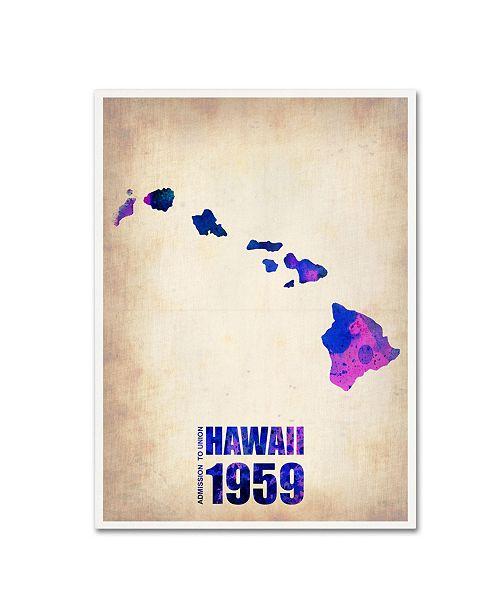 """Trademark Global Naxart 'Hawaii Watercolor Map' Canvas Art - 35"""" x 47"""" x 2"""""""