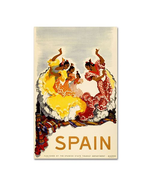 "Trademark Global 'Spain - Women Dancing' Canvas Art - 16"" x 24"" x 2"""
