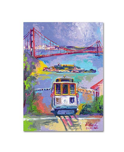 "Trademark Global Richard Wallich 'San Francisco 2' Canvas Art - 18"" x 24"" x 2"""