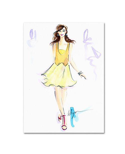 "Trademark Global Jennifer Lilya 'Dash of Lime' Canvas Art - 35"" x 47"" x 2"""