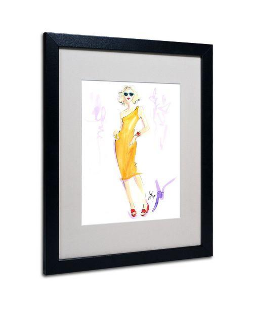 "Trademark Global Jennifer Lilya 'Sunny Delight' Matted Framed Art - 20"" x 16"" x 0.5"""