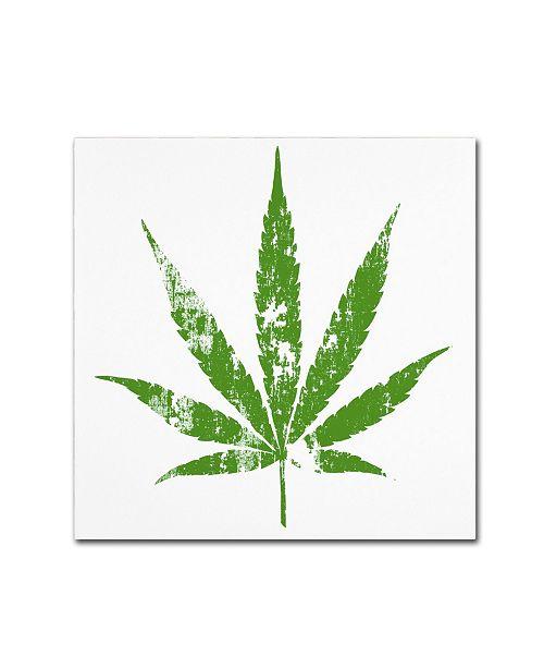 "Trademark Global Potman 'One Leaf' Canvas Art - 14"" x 14"" x 2"""