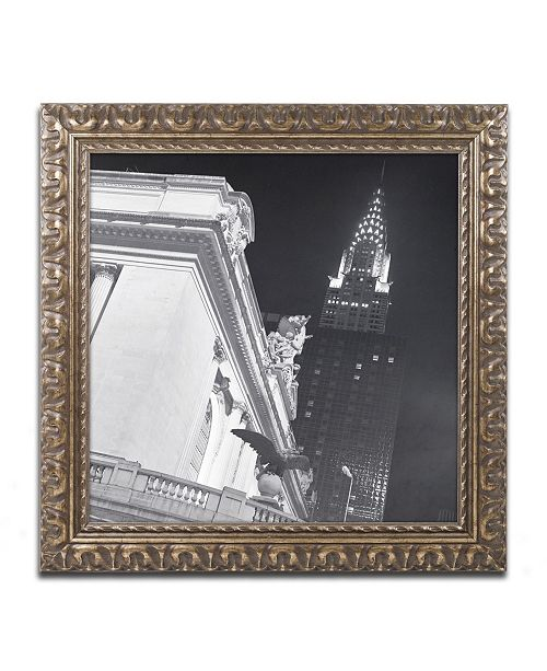 """Trademark Global Moises Levy 'New York 003' Ornate Framed Art - 16"""" x 16"""" x 0.5"""""""