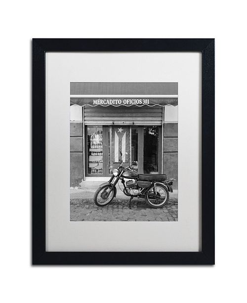 "Trademark Global Moises Levy 'Mercadito Oficios' Matted Framed Art - 16"" x 20"" x 0.5"""