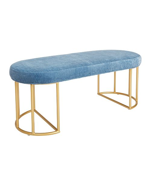 Office Star Kinsley Bench with Gold Frame