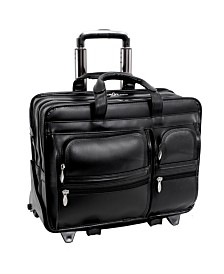 McKlein Franklin Patented Detachable Wheeled Laptop Briefcase