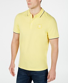 Michael Kors Men's Classic-Fit Stretch Piqué Logo Polo, Created For Macys