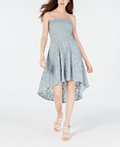 c0b8caecd City Studios Juniors' Strapless High-Low Dress