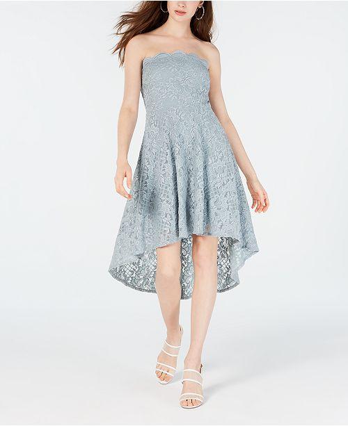 City Studios Juniors' Strapless High-Low Dress