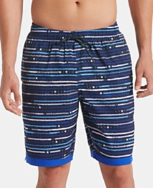 "Nike Men's Americana Horizon Stripe 9"" Swim Trunks"