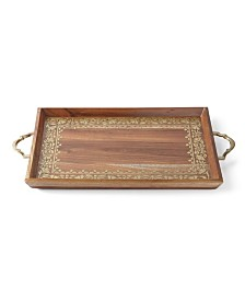 Lenox Global Tapestry Wood Handled Rectangular Tray