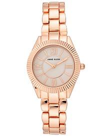 Anne Klein Women's Rose Gold-Tone Bracelet Watch 30mm